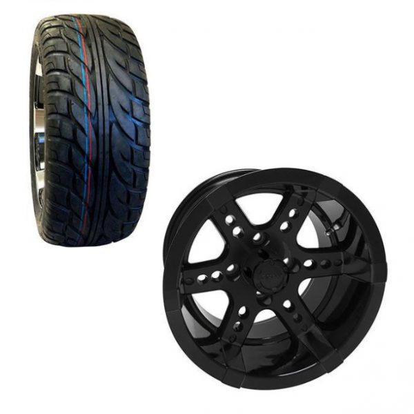 Golf Cart Wheel and Tire Combo 23x10x14