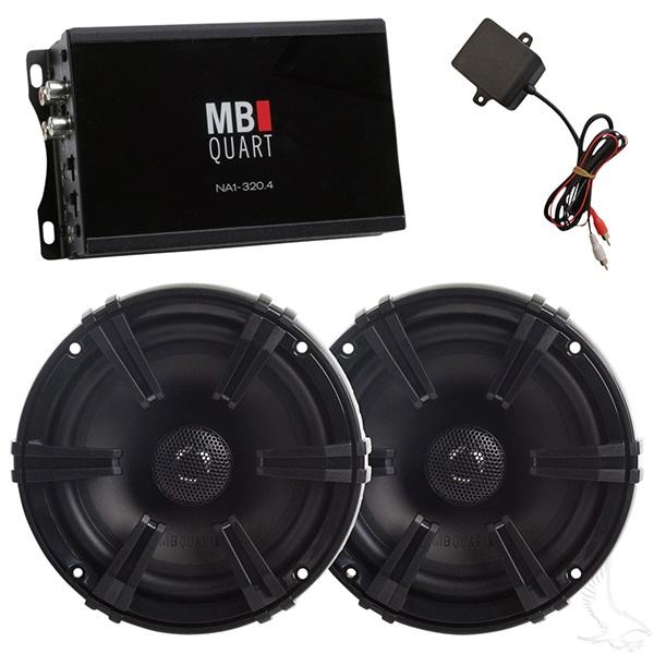 MB Quart Speaker and Amplifier Combo 5.25 Inch 4x80 Watt