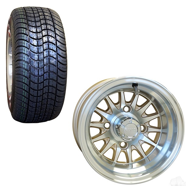 10 Inch Golf Cart Wheel And Street Tire Combo Pearl Pete S Golf Carts
