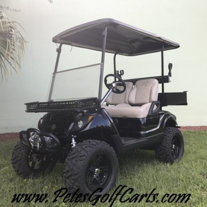 2014 Yamaha Drive Golf Cart Lifted Black WM PGC