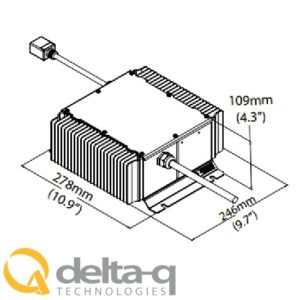 Golf Cart Battery Charger Delta QuiQ Illustration Dimensions