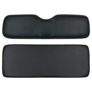 Club Car Golf Cart Rear Seat Cushion Kit DS Models Black Color