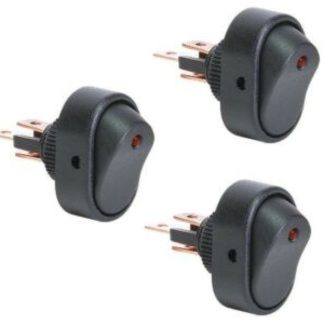 Golf Cart 12v ON OFF Switch With LED Light RED 3 Pack