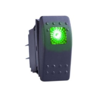 Golf Cart Accessory Switch 12v ON/OFF With Square LED Light GREEN