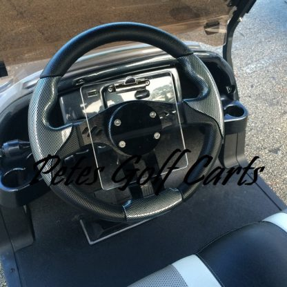 Golf Cart Score Card Holder Designed For Use With Custom Steering Wheels