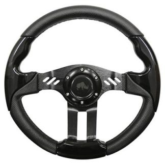 Golf Cart Steering Wheel Black With Black Spokes 13 Inch