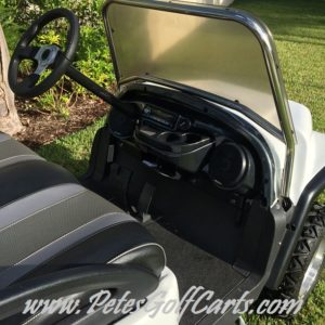 Jeep Golf Cart Carbon Fiber Dash With Stereo