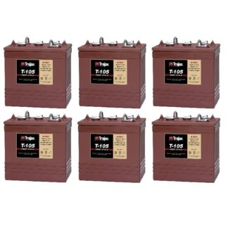 Trojan T-105 6 Volt Golf Cart Battery | 6 Pack | 36V Systems ClubCar Ezgo Yamaha
